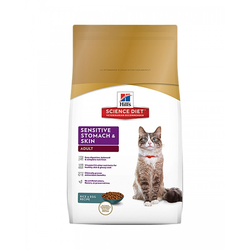 Hill's Science Diet Feline Adult Sensitive Stomach&Skin