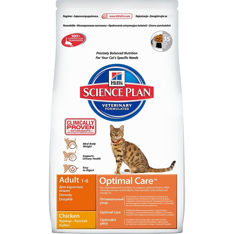 Hill's Science Plan Feline Adult Optimal Care (Курица)