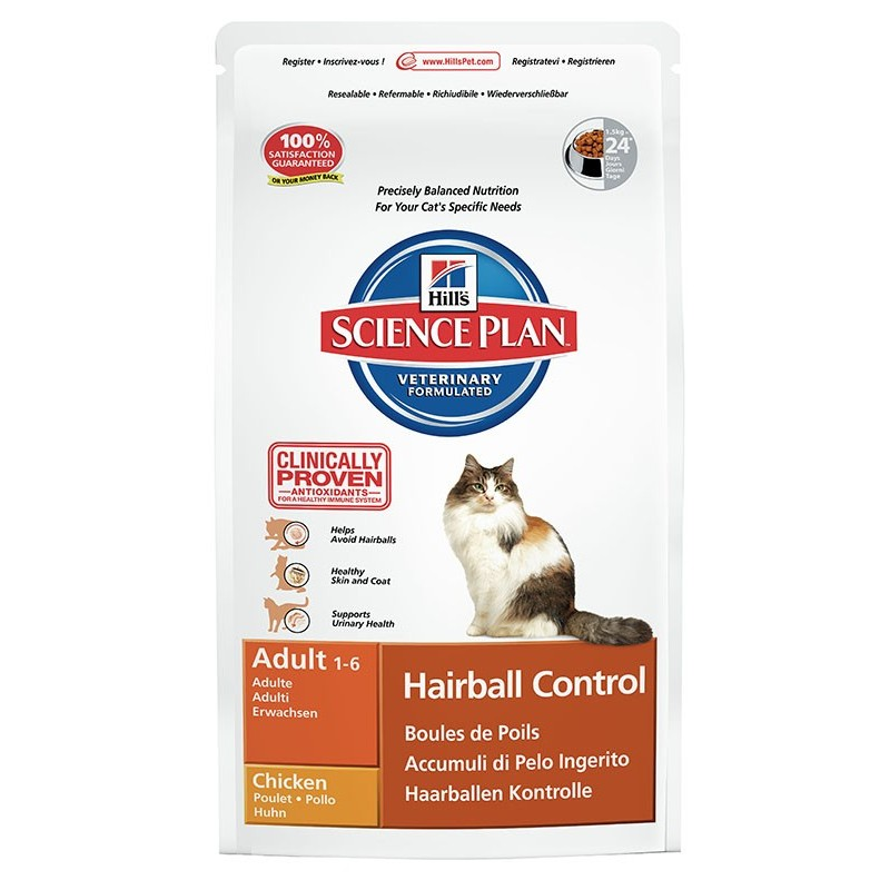 Hill's Science Plan Feline Adult Hairball Control (Курица)