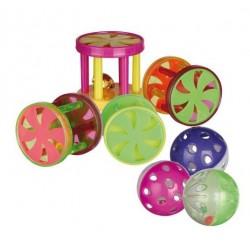 """Набор игрушек """"TRIXIE"""" в виде шариков и роликов, 60 шт"""