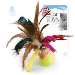 GiGwi Мячик с перьями