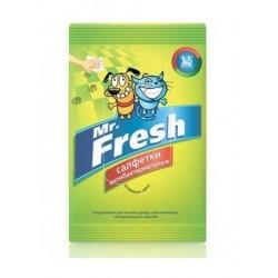 Mr.Fresh Салфетки антибактериальные влажные, 15 шт