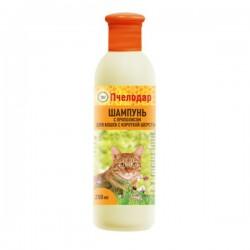 Пчелодар Шампунь с прополисом для короткошерстных кошек