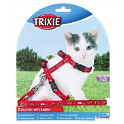 """Набор """"Trixie"""" """"Kitten Harnes"""" (шлея + поводок) для кошек"""