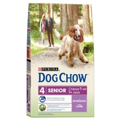 DOG CHOW Senior с ягненком, 14 кг