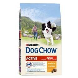 Dog Chow корм для активных собак (Курица), 14 кг