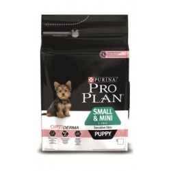 Pro Plan Puppy Small & Mini Sensitive Derma (Лосось, рис)