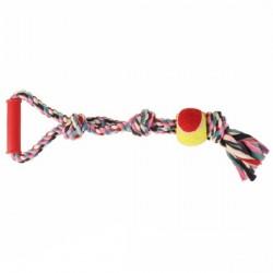 """Игрушка """"TRIXIE"""" """"DENTAfun"""" в виде веревки с теннисным мячиком и ручкой"""