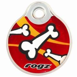 Адресник Rogz IDR27X small, 27 мм. (красный с косточкой)