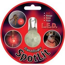 Светящийся брелок Niteize для собак, красный