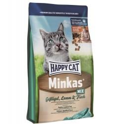 Сухой корм Happy Cat Minkas Mix (Птица, ягненок, рыба)