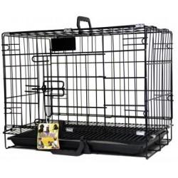 PetsLife Клетка для собаки, черная