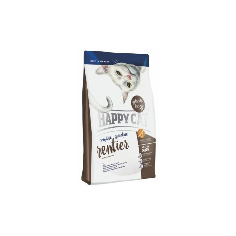Сухой корм Happy Cat Sensitive Grainfree (Оленина), 4 кг