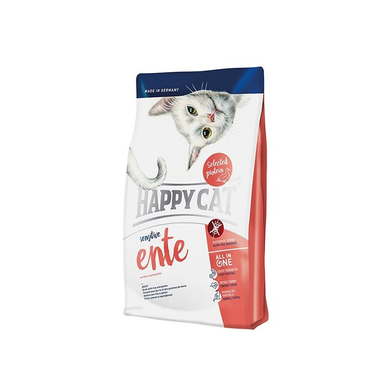 Сухой корм Happy Cat Sensitive (Утка)
