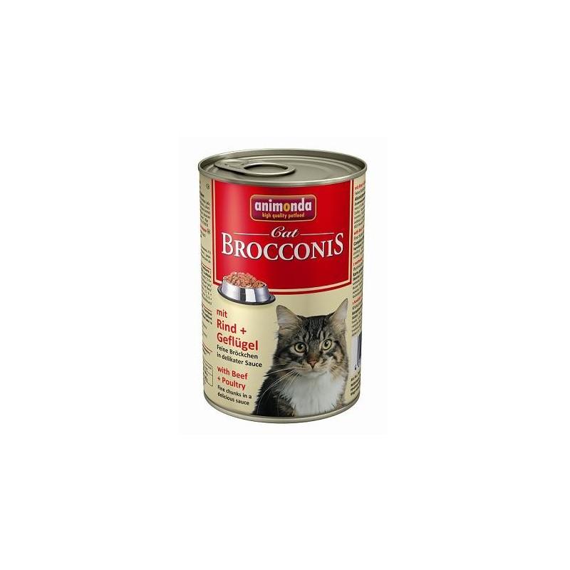 Консервы Brocconis Cat (Говядина, птица), 400 гр