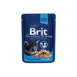 Brit Premium Cat Pouches Chicken Chunks for Kitten