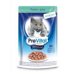Превитал Премиум в соусе для стерилизованных кошек (птица), 100 гр