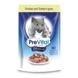 Превитал Премиум в соусе (курица/индейка), 100 гр.