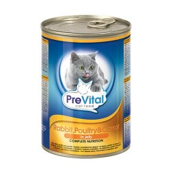 Консервы PreVital Premium line (Кролик, птица, морковь), 415 гр