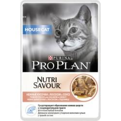 Pro Plan Влажный корм для кошек, живущих дома (Лосось)85 г.