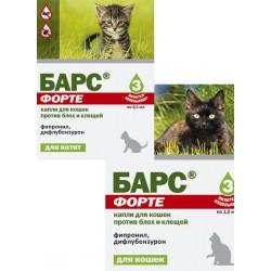 Агроветзащита Барс ФОРТЕ капли для кошек