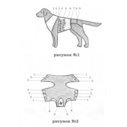 Попона послеоперационная для собак №3