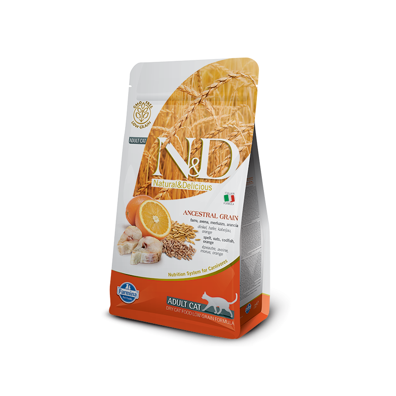 Farmina N&D Cat Low Grain (Треска, апельсин)