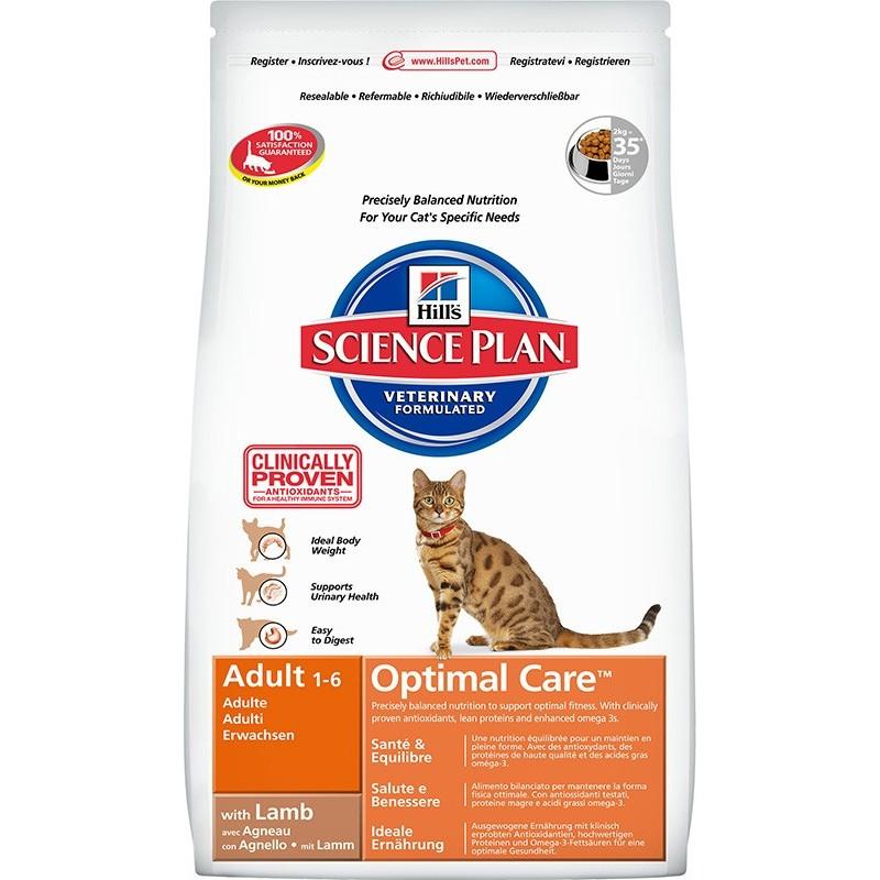 Hill's Science Plan Feline Adult Optimal Care (Ягненок)