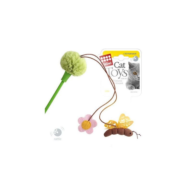 GiGwi Дразнилка зеленая с пчелой и цветочком