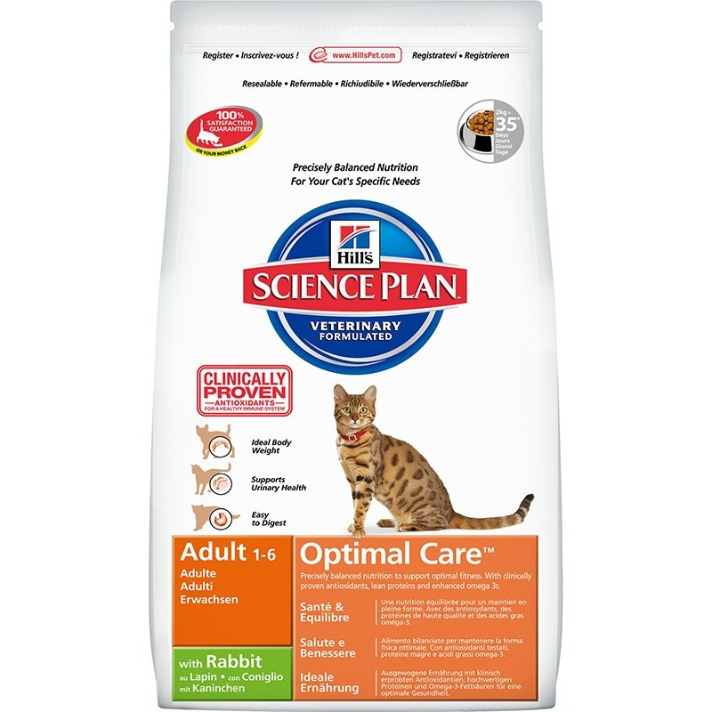 Hill's Science Plan Feline Adult Optimal Care (Кролик)