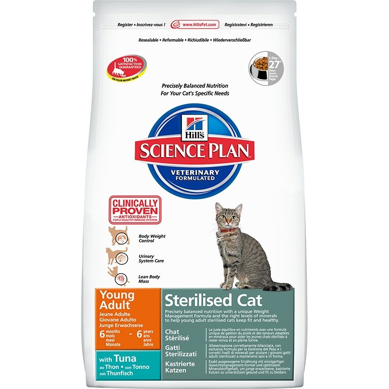 Hill's Science Plan Feline Young Adult Sterilised Cat (Тунец)
