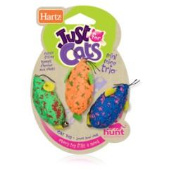 """Игрушка для кошек """"Три мышки разноцветные"""""""