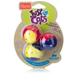 """Игрушка для кошек """"Мягкие шарики с блестками"""""""