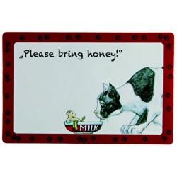 """Коврик под миску """"Please, bring honey"""""""