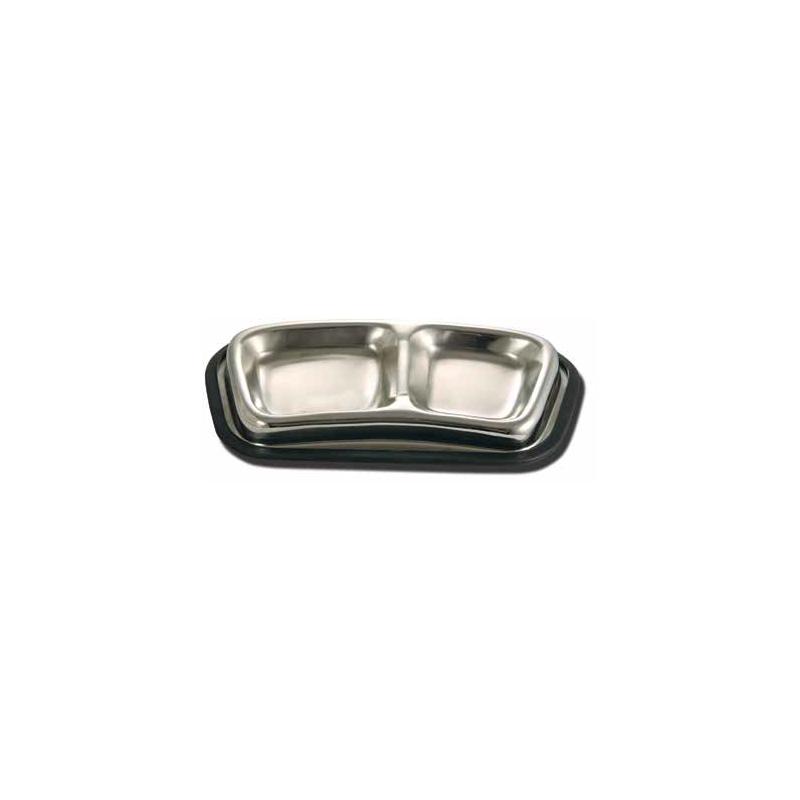 Triol 1080-DCB01 Миска металлическая двойная