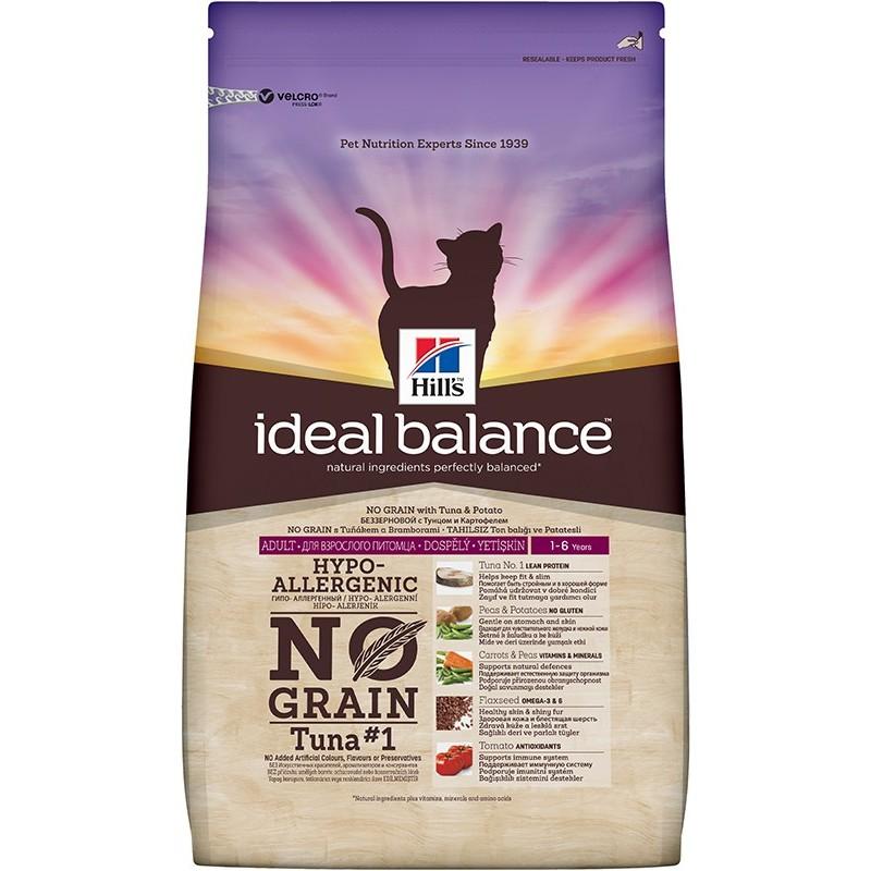 Hill's Ideal Balance Feline Adult No Grain (Тунец, картофель)