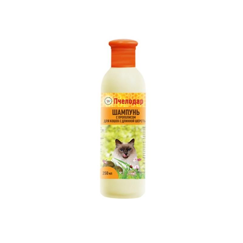 Пчелодар Шампунь с прополисом для длинношерстных кошек