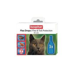 Капли Flea Drops Cats от блох и клещей, 3 шт