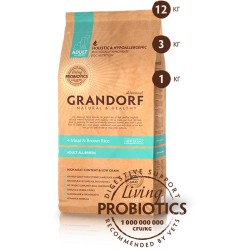 Grandorf Living Probiotics 4 Meat & Brown Rice Adult All Breeds
