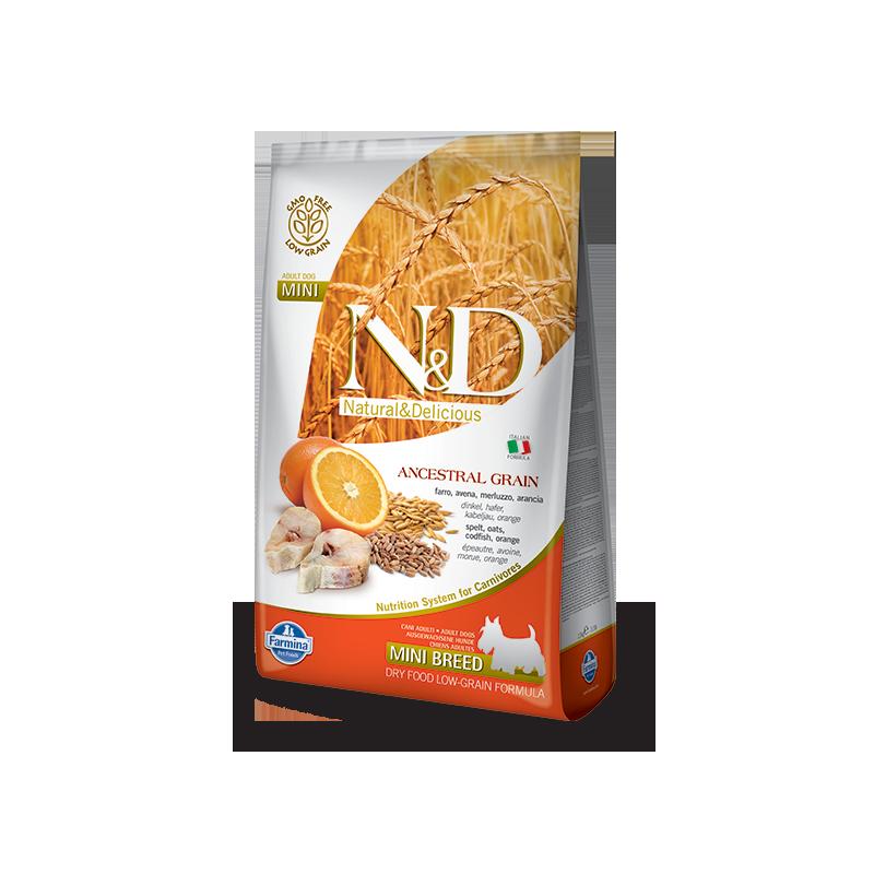Farmina N&D Low Grain Codfish & Orange Adult Mini (Треска, апельсин)
