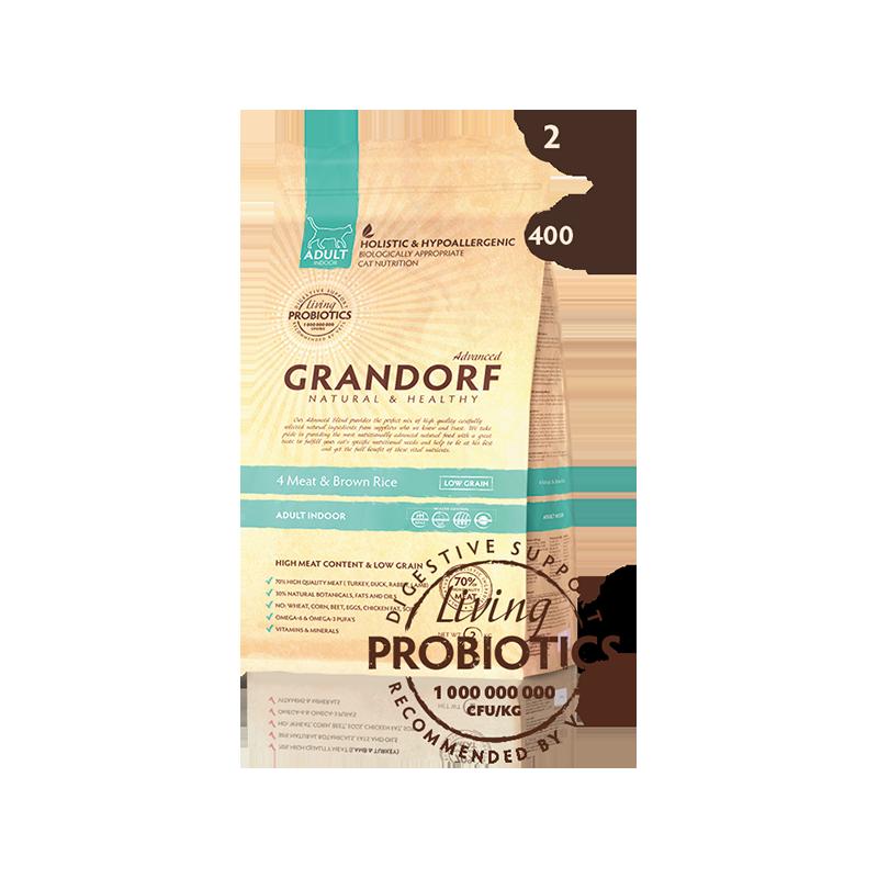 Grandorf Living Probiotics 4 Meat & Brown Rice Adult Indoor