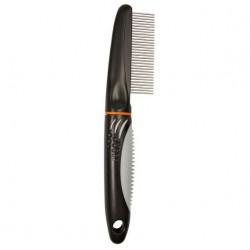 """Расческа """"TRIXIE"""" для ухода за шерстью, с вращающими зубьями, 22см"""