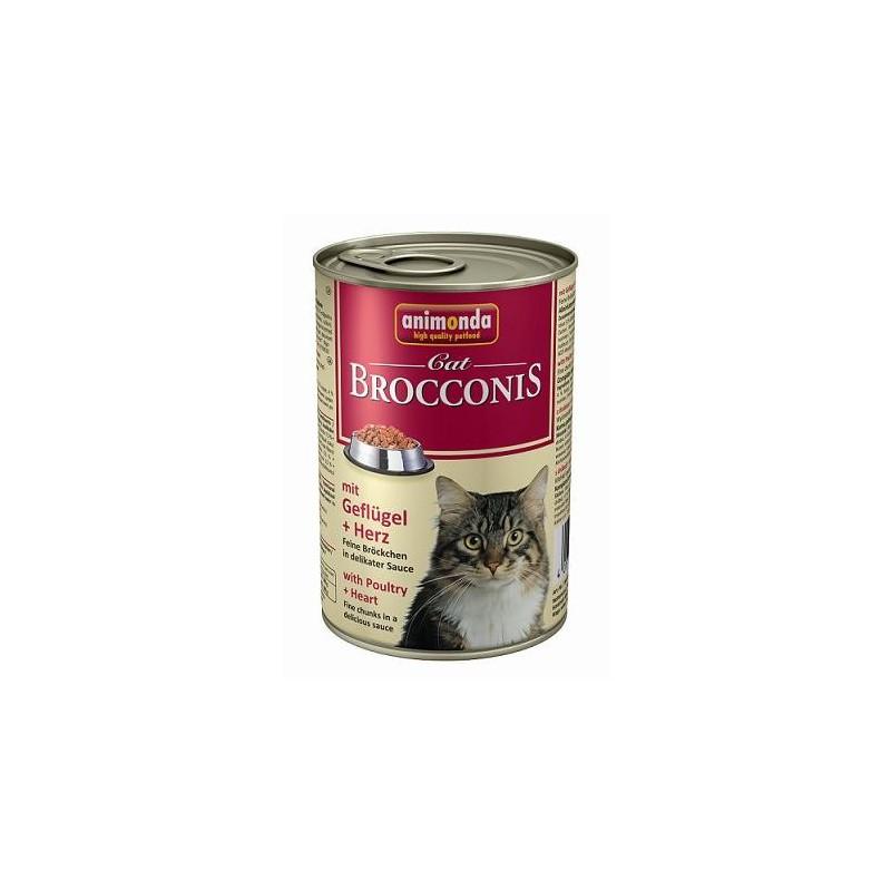 Консервы Brocconis Cat (Птица, сердце), 400 гр