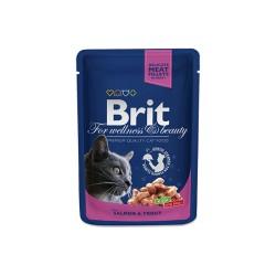 Brit Premium Cat Pouches with Salmon & Trout