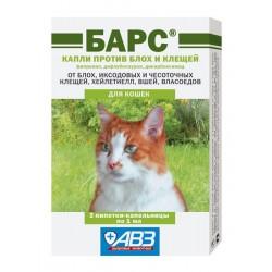 Агроветзащита Барс капли для кошек