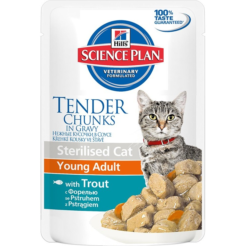 Hill′s Science Plan Feline Young Adult Sterilised Cat Trout