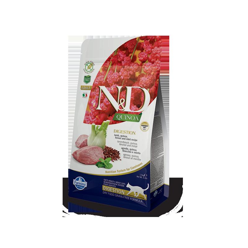 Farmina N&D Cat Quinoa Digestion (Ягненок, фенхель)
