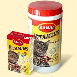Sanal для кошек Витамины, 100 таблеток