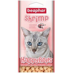 Лакомство Beaphar Happy Rolls Shrimp, 80 шт