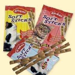 Sanal для кошек, палочки (ягненок,рис), 3 шт